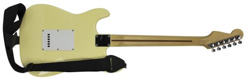 Bruce Springsteen Signed Yellow Fender Squier Guitar BAS #A08767
