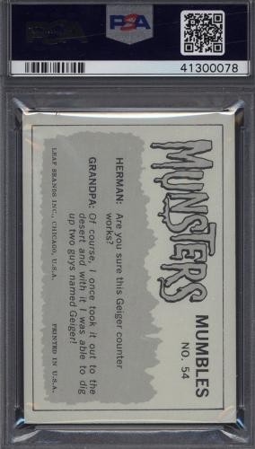 1964 Leaf The Munsters #54 Did They Say It's Good To The Last Drop PSA 10 pop 2
