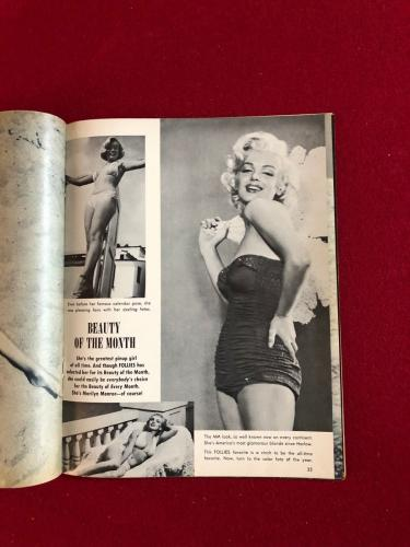 "1956, Marilyn Monroe, ""FOLLIES"" Magazine (No Label) Scarce"
