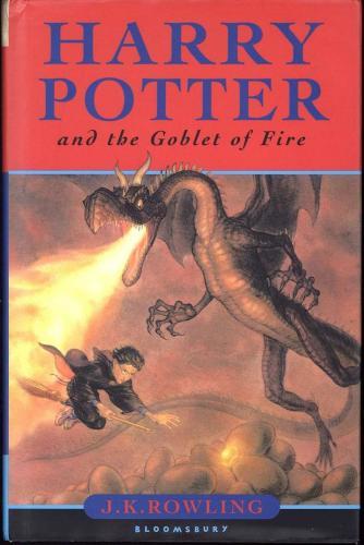 J.K Rowling Signed Autographed 1st Harry Potter The Goblet of Fire Book JSA