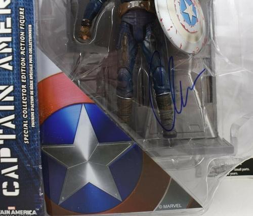 Chris Evans Captain America Avengers Endgame Auto Signed Action Figure PSA/DNA