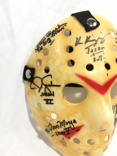 Jason Voorhees 7 Actors Signed Jason Mask Friday The 13th JSA LOA