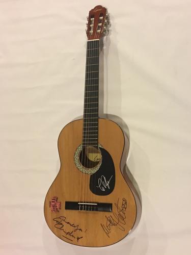 Fleetwood Mac Signed Acoustic Guitar Lindsey Buckingham Mick Mcvie 3x Jsa Coa