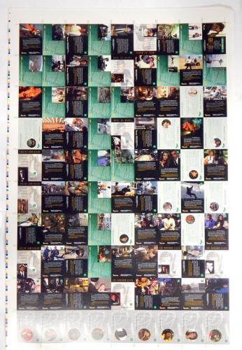 1997 Inkworks James Bond 007 The Living Daylights Uncut Sheet Set (90-cards)