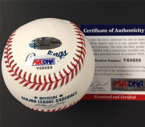 "GEORGE LAZENBY Autograph ""007"" James Bond signed MLB Baseball ~ PSA/DNA COA"