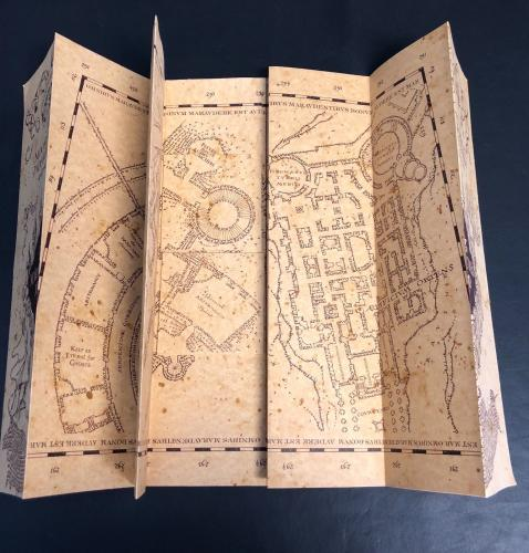 Harry Potter Marauders Map Daniel Radcliffe Signed Authentic Auto Beckett Bas