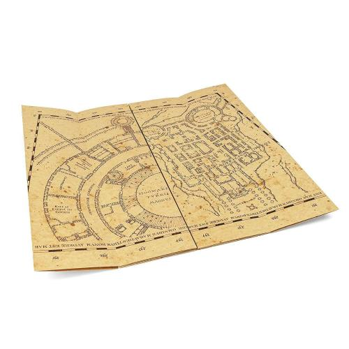 Daniel Radcliffe Harry Potter Signed Auto Marauders Map Authentic Beckett Bas