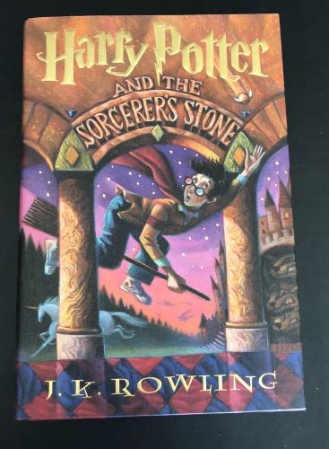 Daniel Radcliffe Signed Auto Harry Potter The Sorcerers Stone Hardcover Bas 27