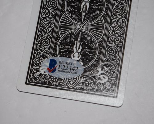 Matt Damon Signed Autographed ROUNDERS Winning Hand Playing Card Beckett COA