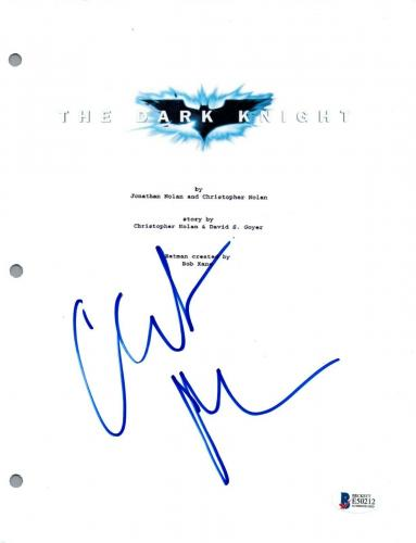 Christian Bale Signed Autographed THE DARK KNIGHT Movie Script BAS COA