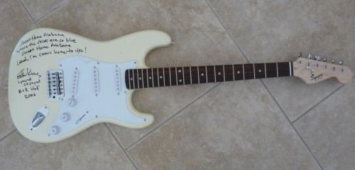 Ed King Lynyrd Skynyrd Signed Guitar Sweet Home Alabama Lyrics PSA Certified