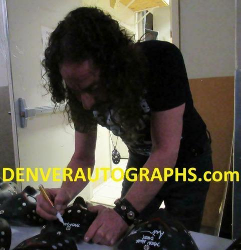 Ari Lehman Signed Friday The 13th Replica Black Mask Jason Never Dies BAS 23760