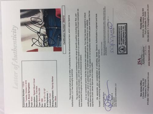 """Bruce Springsteen signed Born In The USA 12"""" LP Music Vinyl Album Jsa letter coa"""
