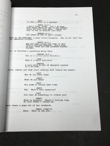 Jonathan Bennett Signed 'Mean Girls' Full Movie Script