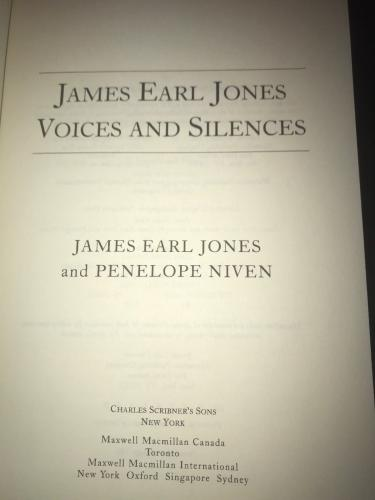 James Earl Jones,Voices and Silences Signed Autograph Book Star Wars Darth Vader