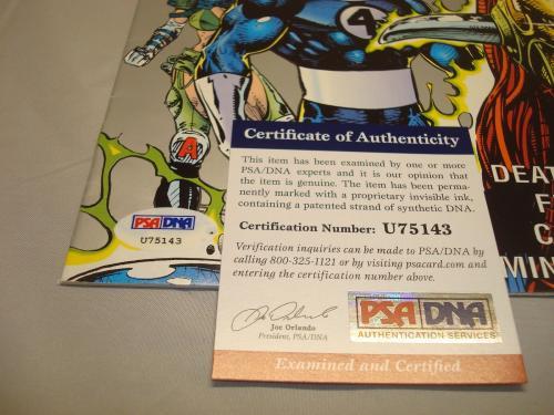 Stan Lee Signed Death's Head 2 Comic Book Marvel Autographed PSA/DNA COA 1A