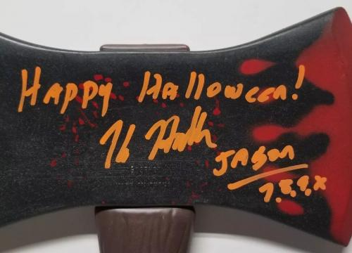 KANE HODDER aka JASON Signed Autographed FRIDAY the 13th, HATCH. WITNESS JSA