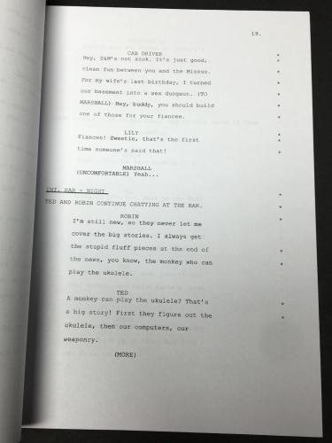 Celest Thorson Signed 'How I Met Your Mother' Full Movie Script BAS E65386
