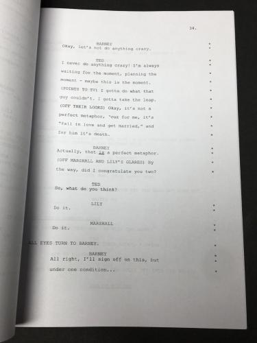 Celest Thorson Signed 'How I Met Your Mother' Full Movie Script BAS E65386