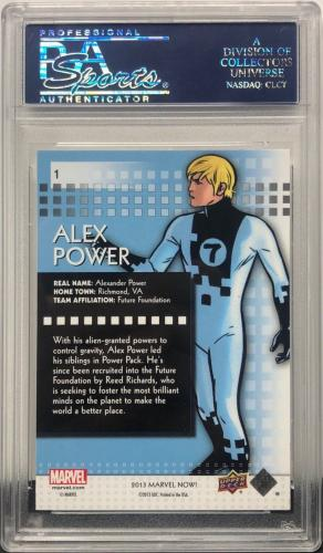 Stan Lee Signed 2014 'Alex Power' Marvel Now Trading Card PSA 83583345