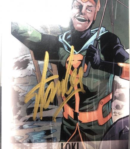 Stan Lee Signed 2014 'Loki' Marvel Now Upper Deck Trading Card PSA 83583129