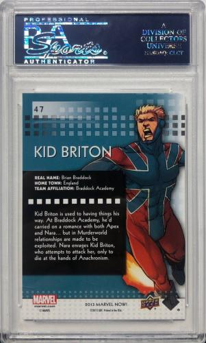 Stan Lee Signed 2014 'Kid Briton' Marvel Now Trading Card PSA 83583332