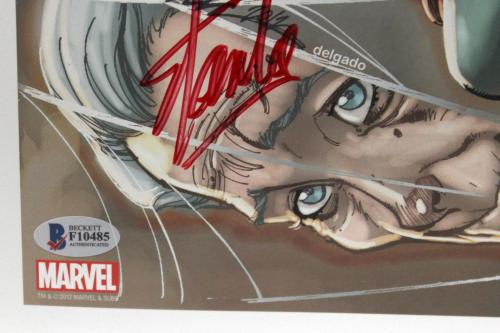 Stan Lee Signed Autograph Marvel Comics 13x19 Print 50 Years Beckett Bas F10485
