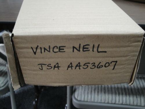 Vince Neil Hand Signed Autographed Electric Guitar Motley Crue JSA AA53607