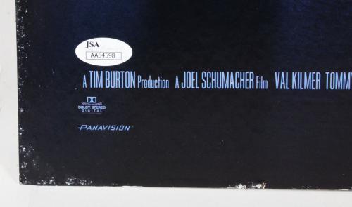 Val Kilmer Signed Poster Batman Forever – COA JSA