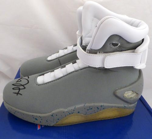 Michael J Fox Autographed Back To The Future Air Mag Shoes Beckett BAS #D12931