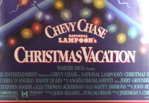 Chevy Chase Autographed Framed 24x36 Christmas Vacation Movie Poster PSA/DNA Stock #129117
