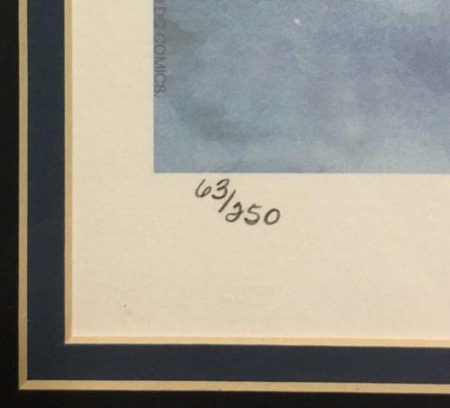 Jim Lee Signed Batman lithograph framed mint autograph CBM COA LE /250