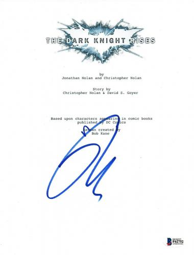 Tom Hardy Signed Autographed THE DARK KNIGHT RISES Movie Script Beckett BAS COA