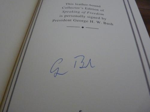 George H.W. Bush Signed Autographed Speaking Freedom LTD ED Book BAS Certified