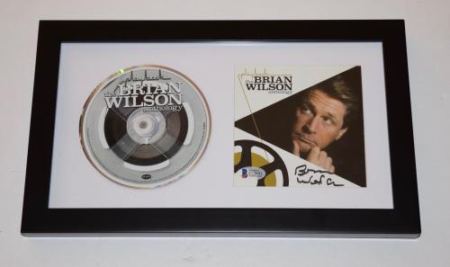 Brian Wilson Signed Autographed The Anthology Framed CD The Beach Boys BAS COA