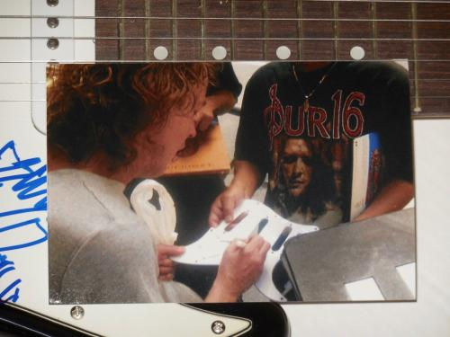 Angus Young Autographed Guitar (ac/dc) - W/ Proof! + Rare Devil Sketch!