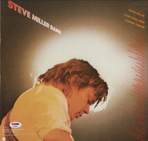 Steve Miller Signed Fly Like An Eagle Record Album Psa Coa Ae64015