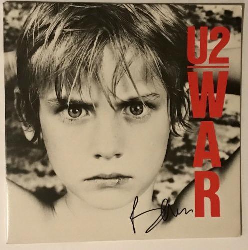 Bono signed U2 war album lp autographed with beckett coa