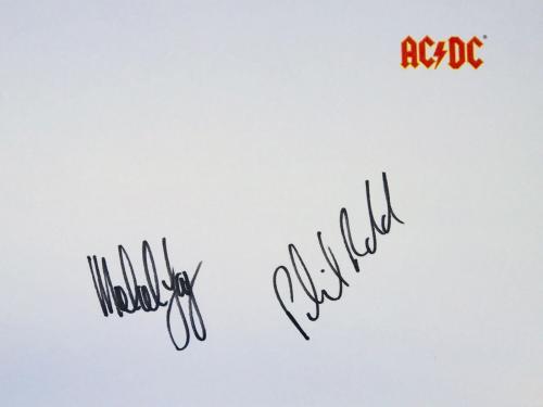 AC/DC signed ftatr album print angus malcolm young ac dc group beckett loa