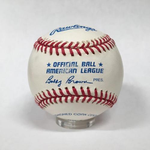 Bill Clinton Single Signed Baseball, PSA 8.5