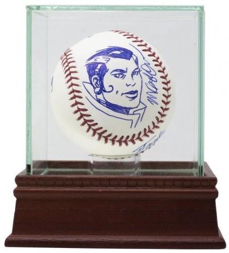 Stan Lee Signed Baseball w/ Sketch of Rogue w/ UV Glass Display Case JSA