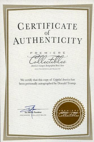 Donald Trump Signed Autographed Book Crippled America Limited 1st Edition Huge!!