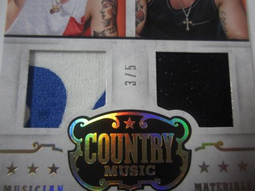 2014 Panini Brian Kelley & Tyler Hubbard FLORIDA GEORGIA LINE Dual Shirt #'d 3/5