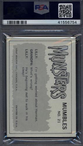 1964 Leaf The Munsters #21 Relax, You Look Like You Saw PSA 9 (Only 1 Higher) *1