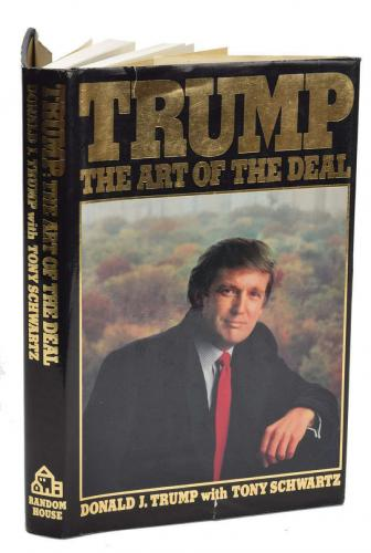President Donald Trump Signed Autographed 1st Edition Art of The Deal Book BAS