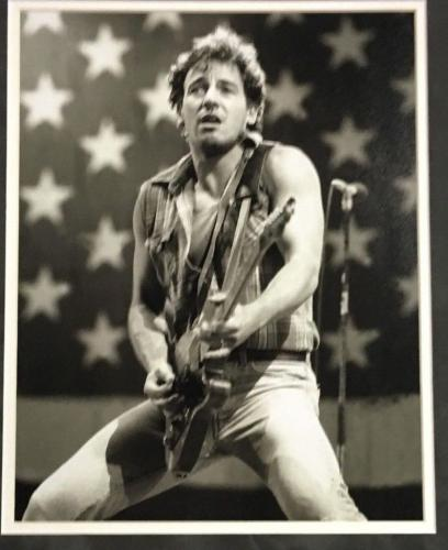 Bruce Springsteen facsimile signed 11x14 Born in The USA photo framed In Suede