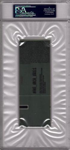 Nine Inch Nails TRENT REZNOR + 4 Signed Concert Full Ticket Stub PSA/DNA SLABBED