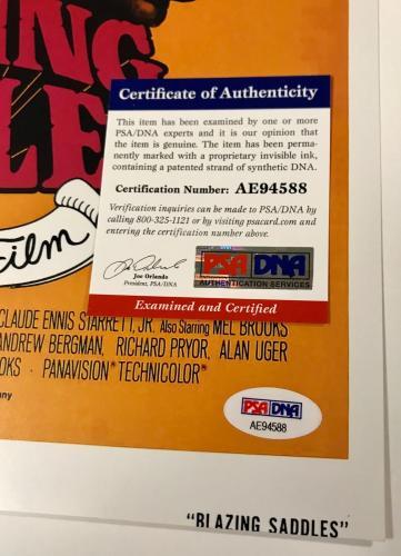 Mel Brooks Blazing Saddles Signed 11x17 Auto Photo Poster PSA/DNA COA