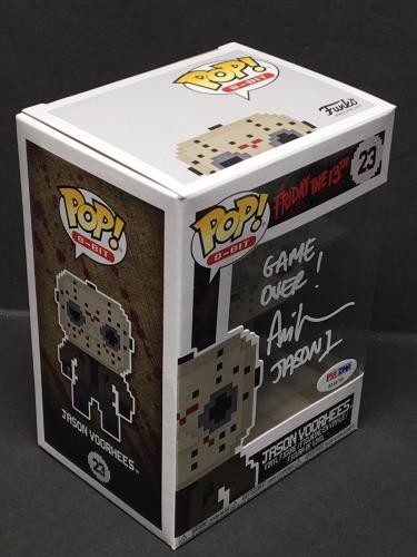 Ari Lehman Signed Friday The 13th:Jason Voorhees 8-Bit Funko Pop Jason 1 PSA 736