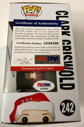 Chevy Chase Clark Griswold Signed Christmas Vacation Funko Pop PSA/DNA COA (A)